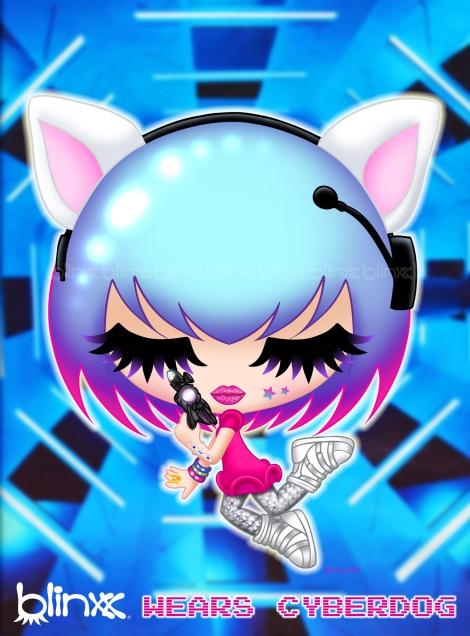 Blinxx wears Cyberdog and Necomimi